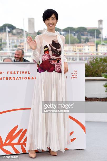 """Gwei Lun-Mei attends the photocall for """"The Wild Goose Lake"""" during the 72nd annual Cannes Film Festival on May 19, 2019 in Cannes, France."""