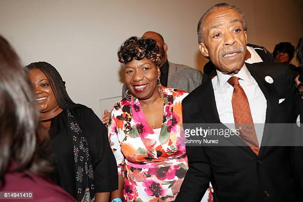 Gwen Carr and Al Sharpton attend the 2016 Circle Of Sisters Expo at Jacob Javits Center on October 15 2016 in New York City