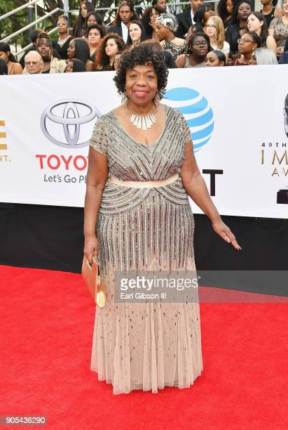 Gwen Carr at the 49th NAACP Image Awards on January 15 2018 in Pasadena California
