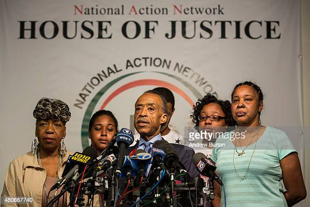 Gwen Carr Eric Garner's mother Erica Garner Eric Garner's daugter the Reverend Al Sharpton of the National Action Network Eric Garner Eric Garner's...