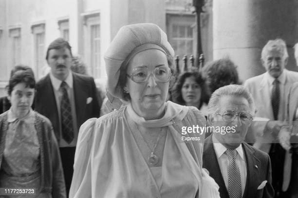 Gwen Cooper attends a memorial service for his late husband comedian Tommy Cooper at St MartinintheFields London UK 19th July 1984 Images