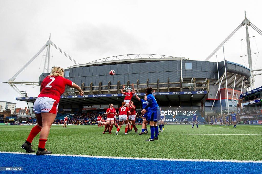 Wales v Italy - Womens six nations championship : News Photo