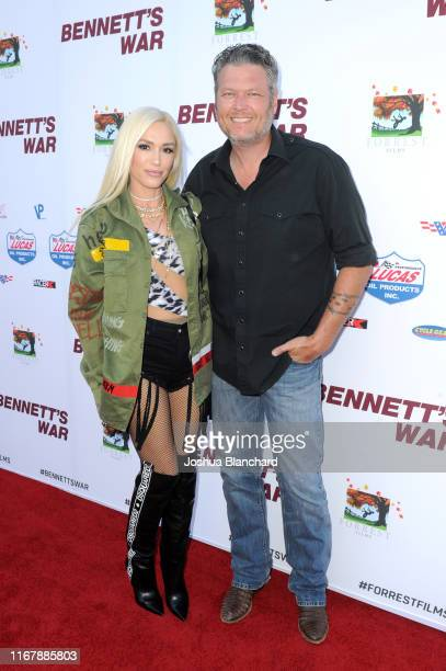 Gwen Stefani and Blake Shelton attend Bennett's War Los Angeles Premiere at Warner Bros Studios on August 13 2019 in Burbank California
