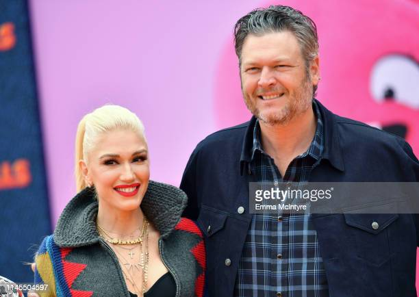 Gwen Stefani and Blake Shelton attend STX Films World Premiere of UglyDolls at Regal Cinemas LA Live on April 27 2019 in Los Angeles California