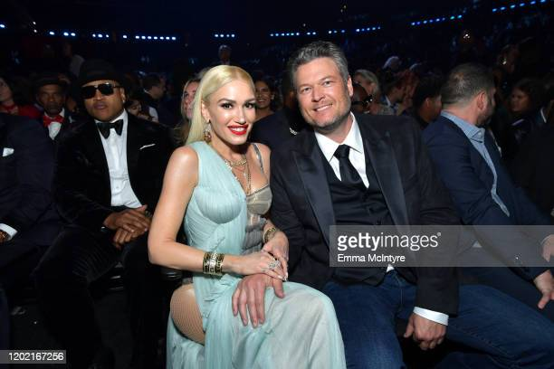 Gwen Stefani and Blake Shelton attend the 62nd Annual GRAMMY Awards at STAPLES Center on January 26 2020 in Los Angeles California
