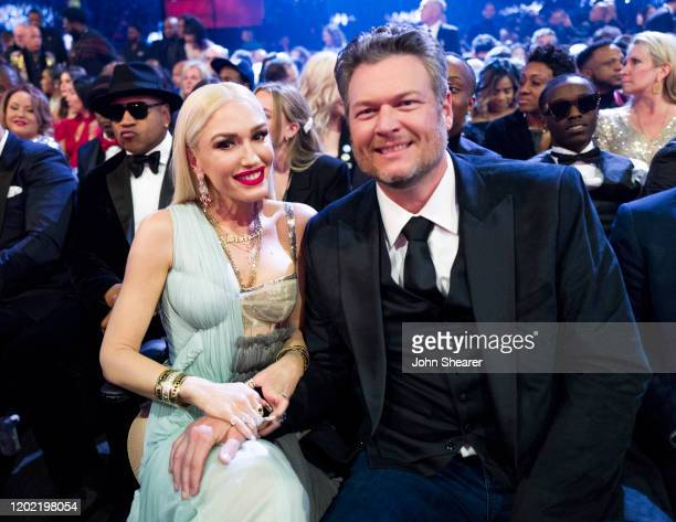 Gwen Stefani and Blake Shelton attend the 62nd Annual GRAMMY Awards on January 26 2020 in Los Angeles California