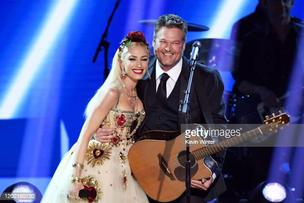 Gwen Stefani and Blake Shelton perform onstage during the 62nd Annual GRAMMY Awards at STAPLES Center on January 26 2020 in Los Angeles California