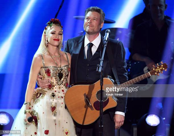 Gwen Stefani and Blake Shelton perform onstage during the 62nd Annual GRAMMY Awards at STAPLES Center on January 26, 2020 in Los Angeles, California.