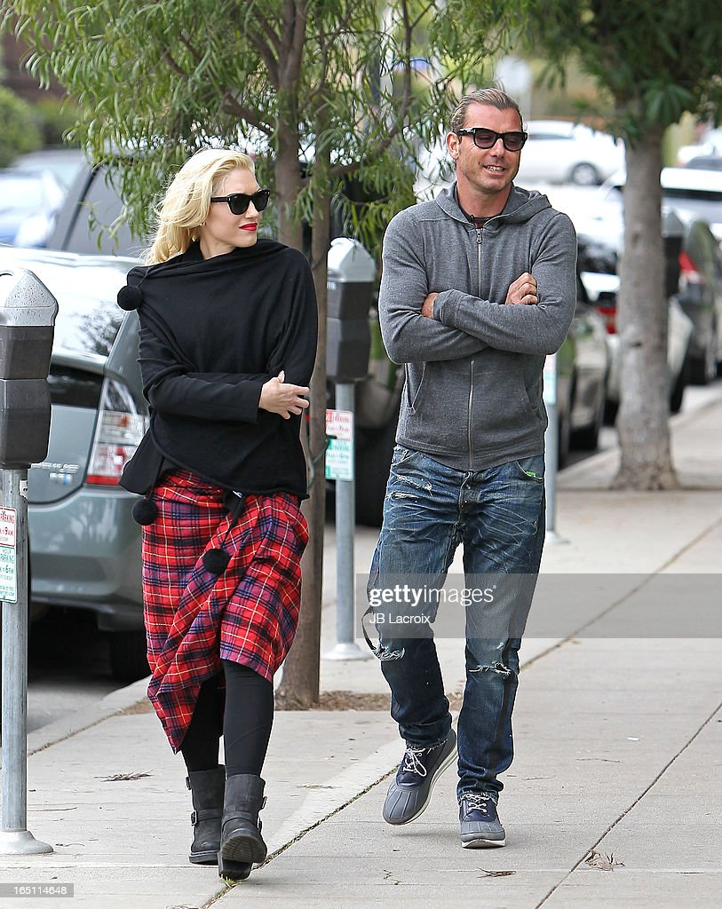 Gwen Stefani and Gavin Rossdale are seen on March 30, 2013 in Los Angeles, California.