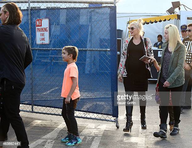 Gwen Stefani and Gavin Rossdale are seen with their son Kingston Rossdale on January 19 2014 in Los Angeles California