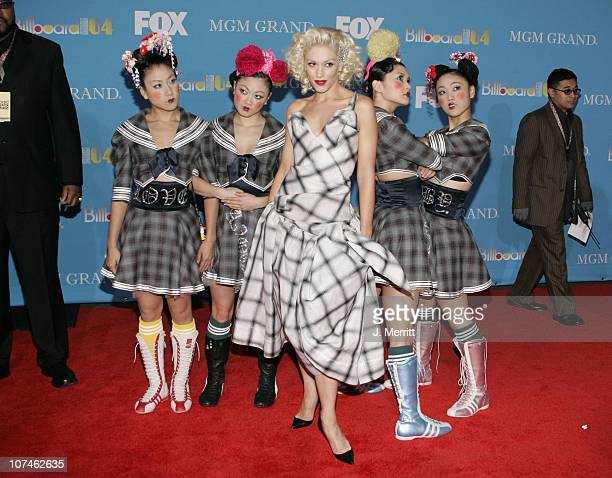 Gwen Stefani and Harajuku Girls during 2004 Billboard Music Awards Arrivals at MGM Grand in Las Vegas Nevada United States