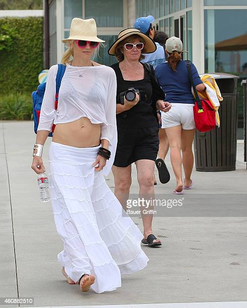 Gwen Stefani and her mother Patti Flynn are seen on July 14 2012 in Los Angeles California