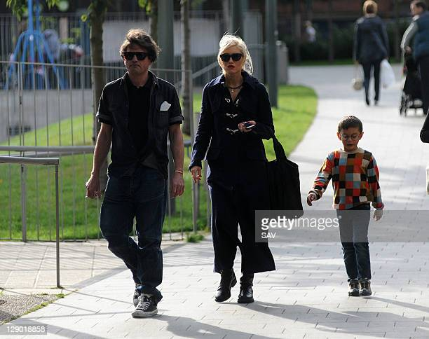 Gwen Stefani and her son Kingston pictured on October 10 2011 in London England