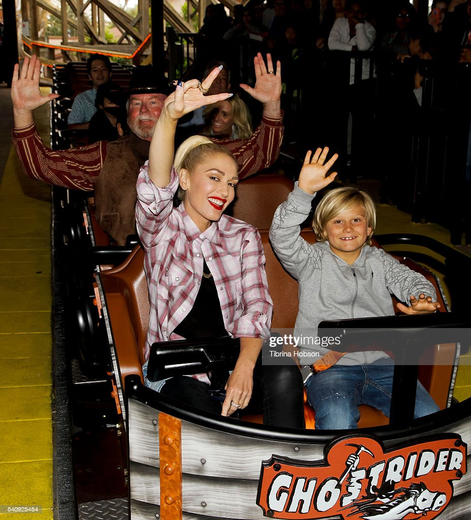 Gwen Stefani And Family Attend The Relaunch Of GhostRider At Knott's Berry Farm