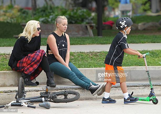 Gwen Stefani and Kingston Rossdale are seen on March 30 2013 in Los Angeles California