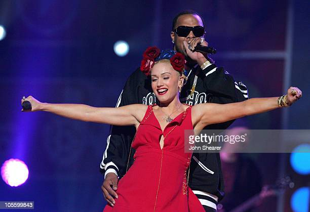 Gwen Stefani and Slim Thug perform Luxurious during 2005 Billboard Music Awards Show at MGM Grand Hotel in Las Vegas Nevada United States