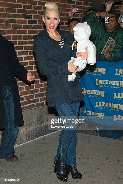 Gwen Stefani and son during Gwen Stefani and Howard Stern Depart The Late Show with David Letterman - December 12, 2006 at Ed Sullivan Theater in New...