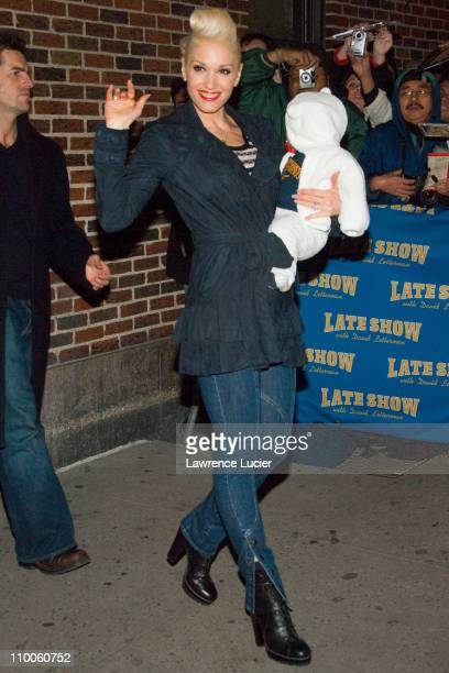 Gwen Stefani and son during Gwen Stefani and Howard Stern Depart The Late Show with David Letterman December 12 2006 at Ed Sullivan Theater in New...