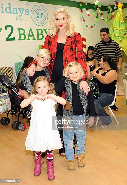 Gwen Stefani and sons Kingston and Zuma and niece Stella Stefani attend the Third Annual Baby2Baby Holiday Party presented by The Honest Company on...