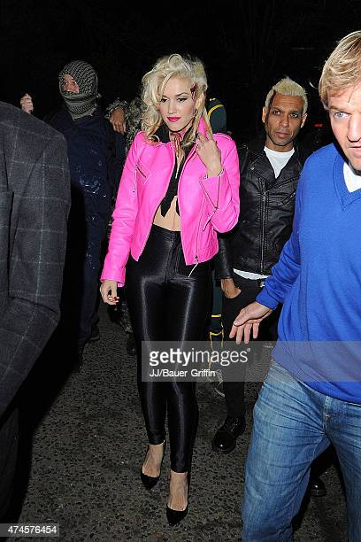 Gwen Stefani and Tony Kanal are seen arriving at a Halloween party on October 31, 2012 in London, United Kingdom.