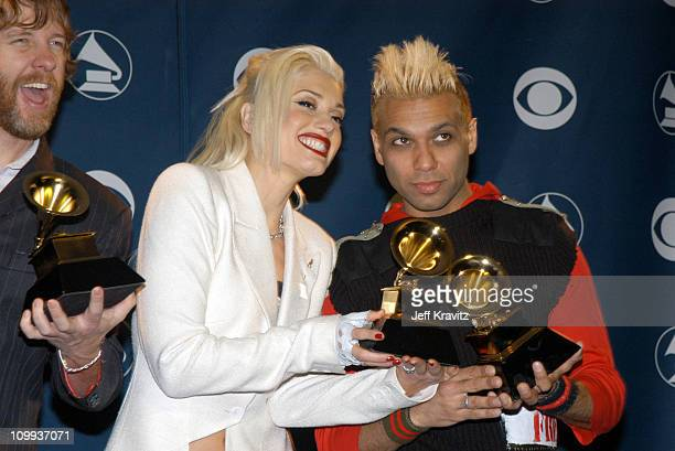 Gwen Stefani and Tony Kanal of No Doubt during The 45th Annual GRAMMY Awards - Press Room at Madison Square Garden in New York City, New York, United...