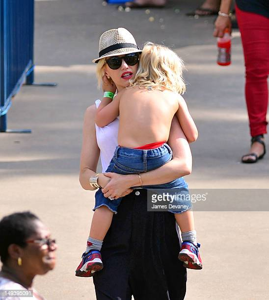 Gwen Stefani and Zuma Nesta Rock Rossdale seen in Central Park on July 27 2012 in New York City