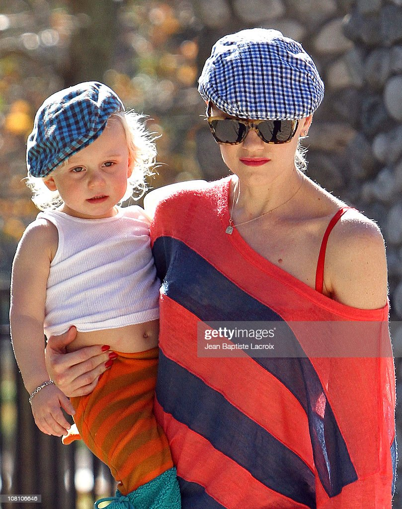 Gwen Stefani and Zuma Rossdale are seen on January 17, 2011 in Los Angeles, California.