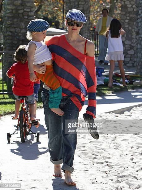 Gwen Stefani and Zuma Rossdale are seen on January 17 2011 in Los Angeles California