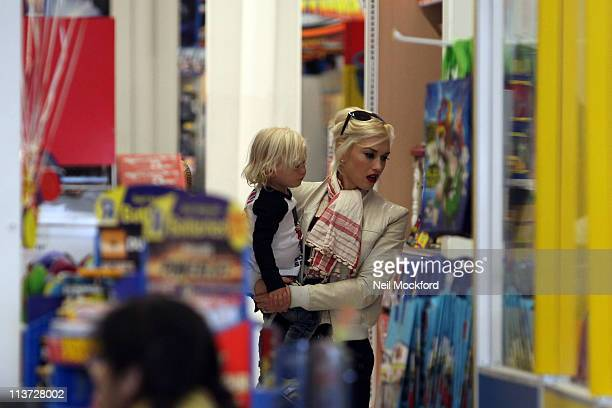Gwen Stefani and Zuma Rossdale sighted shopping at ToysRUs on May 5 2011 in London England
