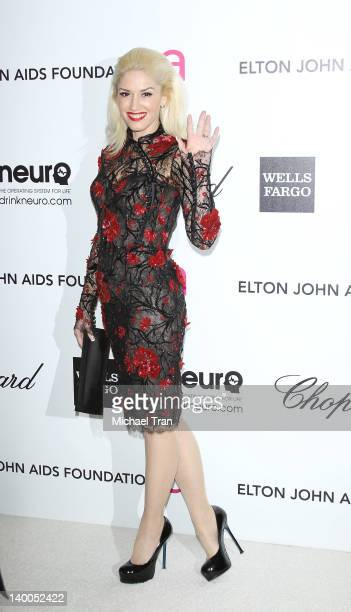 Gwen Stefani arrives at the 20th Annual Elton John AIDS Foundation Academy Awards viewing party held across the street from the Pacific Design Center...