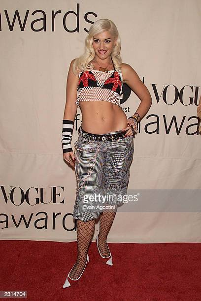 Gwen Stefani arriving at the 2001 VH1 Vogue Fashion Awards at Hammerstein Ballroom in New York City 10/19/01 Photo by Evan Agostini/ImageDirect