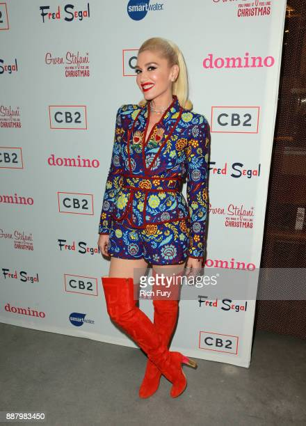 Gwen Stefani at Domino x Fred Segal and CB2 holiday PopUp Shop on December 7 2017 in Los Angeles California