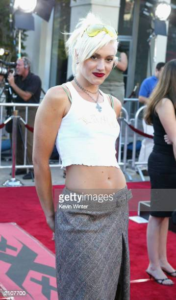Gwen Stefani at the premiere of 'XXX' at the Village Theater in Westwood California August 5 2002