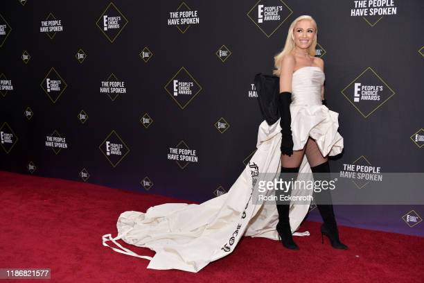 Gwen Stefani attends the 2019 E People's Choice Awards at Barker Hangar on November 10 2019 in Santa Monica California