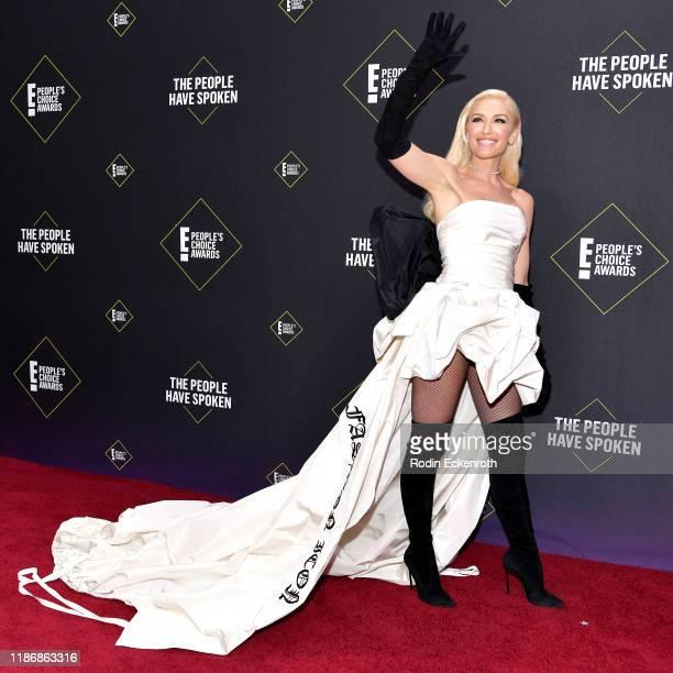 Gwen Stefani attends the 2019 E People's Choice Awards at Barker Hangar on November 10 2019 in Santa Monica California