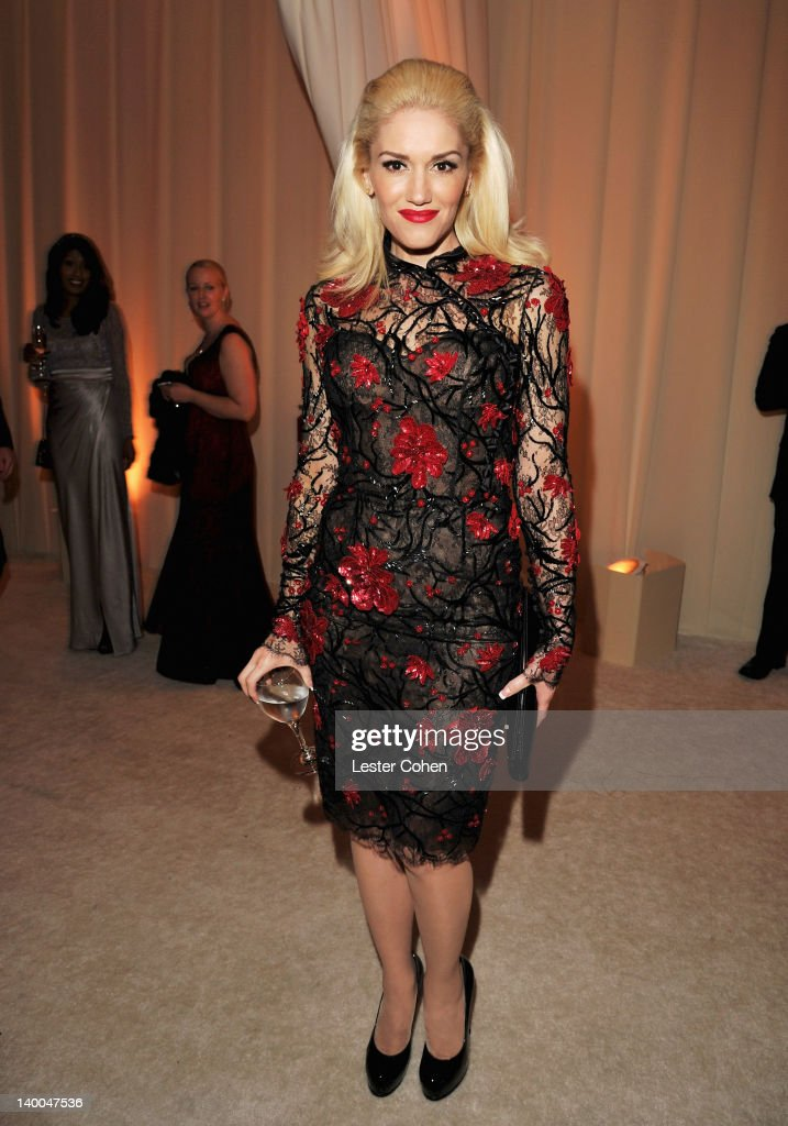 Gwen Stefani attends the 20th Annual Elton John AIDS Foundation Academy Awards Viewing Party at The City of West Hollywood Park on February 26, 2012 in Beverly Hills, California.