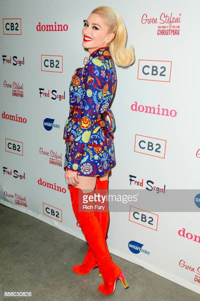 Gwen Stefani attends the Domino Holiday PopUp Shop on December 7 2017 in Los Angeles California