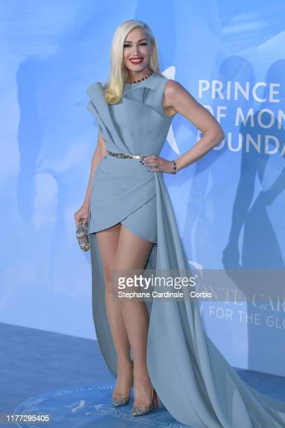 Gwen Stefani attends the Gala for the Global Ocean hosted by HSH Prince Albert II of Monaco at Opera of MonteCarlo on September 26 2019 in MonteCarlo...