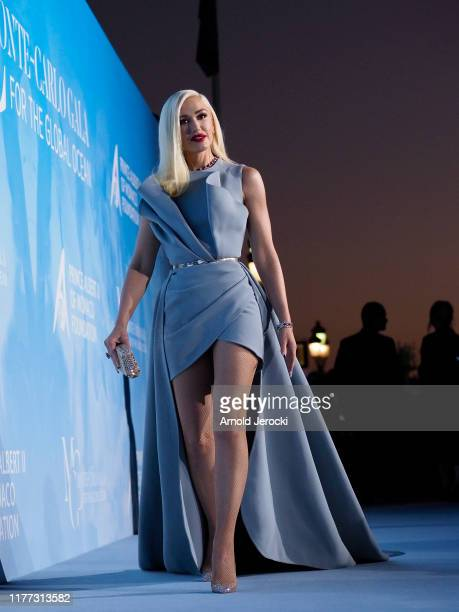 Gwen Stefani attends the Gala for the Global Ocean hosted by H.S.H. Prince Albert II of Monaco at Opera of Monte-Carlo on September 26, 2019 in...