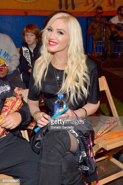 Gwen Stefani attends the Moschino Spring/Summer 19 Menswear and Women's Resort Collection at Los Angeles Equestrian Center on June 8 2018 in Burbank...