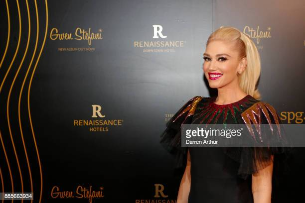 Gwen Stefani attends the opening of the Renaissance Downtown Hotel Dubai for Marriott Rewards SPG Members at Renaissance Downtown Hotel Dubai on...