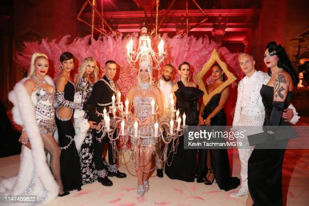 Gwen Stefani Bella Hadid Stella Maxwell Jeremy Scott Katy Perry Maluma Sarah Paulson Tracee Ellis Ross Denek Kania and Violet Chachki attend The 2019...