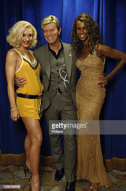 Gwen Stefani David Bowie and Iman during 2005 Fashion Rocks Audience and Backstage at Radio City Music Hall in New York City New York United States