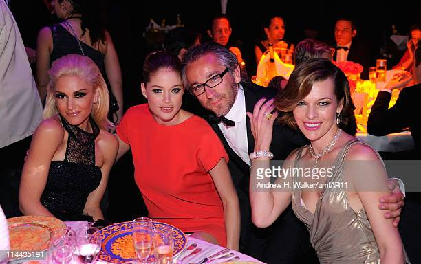 Gwen Stefani, Doutzen Kroes, L'Oreal Paris Global President Cyril Chapuy and Milla Jovovich attends amfAR's Cinema Against AIDS Gala during the 64th...
