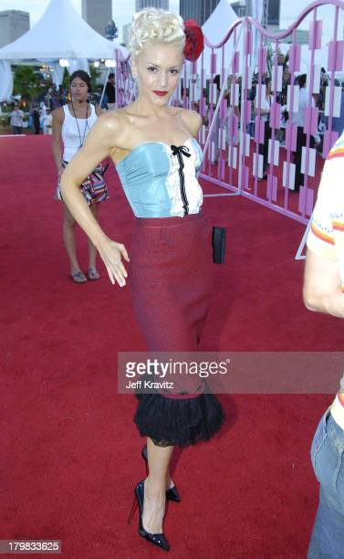 Gwen Stefani during 2004 MTV Video Music Awards Red Carpet at American Airlines Arena in Miami Florida United States