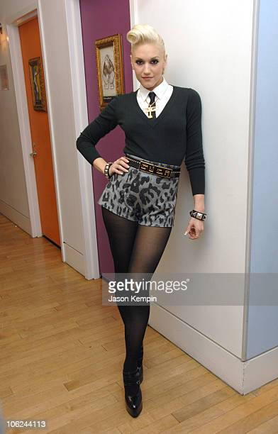 Gwen Stefani during Gwen Stefani Visits MTV's TRL December 7 2006 at MTV Studios in New York City New York United States