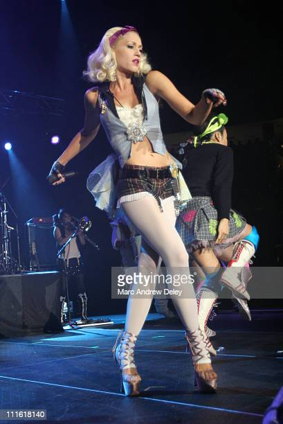 Gwen Stefani during KISS 108 FM Jingle Ball 2004 Show at Tsongas Arena in Lowell Massachusetts United States