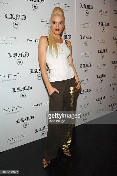 Gwen Stefani during Olympus Fashion Week Spring 2006 Gwen Stefani for LAMB Front Row and Backstage at Roseland in New York City New York United States