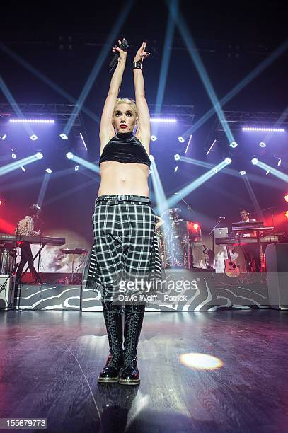 Gwen Stefani from No Doubt performs during the HP Music Connected private concert at Maison De La Mutualite on November 6 2012 in Paris France