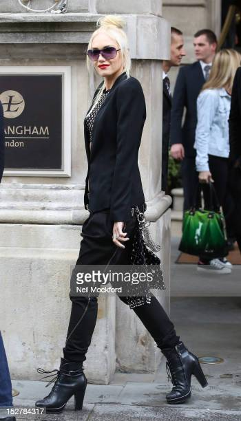 Gwen Stefani from 'No Doubt' seen leaving their hotel on September 26 2012 in London England